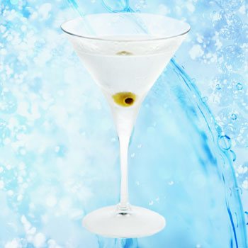 Рецепт алкогольного коктейля: Сухой мартини.