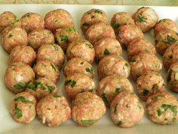 Рис 1 кнель из говядины или телятины